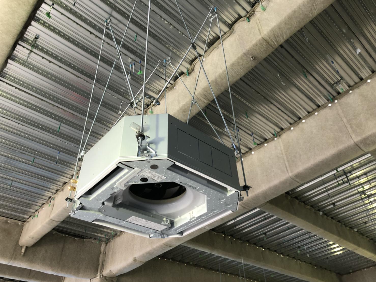 東京都 府中市 某工場内 空調設置工事